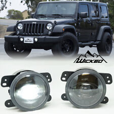 WICKED 2007-2017 Jeep JK 11-13 Grand Cherokee TRUE Cree LED Fog Light Kit Pair