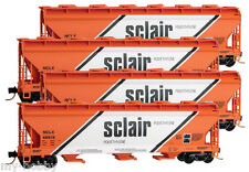 N Scale ACF 3-Bay Covered Hopper Sclair Four Car Runner Pack - MTL #99300114