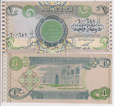 Iraq -  1 dinar  1992  war issue unc currency note