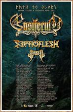 ENSIFERUM   SEPTICFLESH   ARSIS 2019 Ltd Ed RARE Tour Poster +FREE Metal Poster!