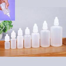 5/15/20/30/50ml Plastic Squeezable Dropper Bottle For Liquid Essential Oil Drops