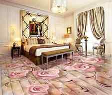 3D Romantic roses Floor WallPaper Murals Wall Print Decal 5D AJ WALLPAPER