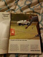 1968 Harley-Davidson Full Page Ad For Gasoline Golf Car