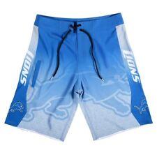 NFL Detroit Lions Gradient Board Shorts Swim Trunks, Blue, Small 30