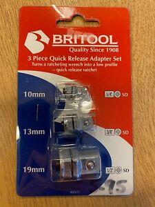 Britool 3 Piece Quick Release Adapter Set