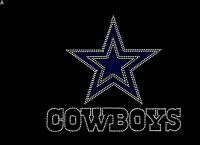 DALLAS COWBOYS Inspired Fan Art Logo Rhinestone Iron On Transfer Hot Fix Bling
