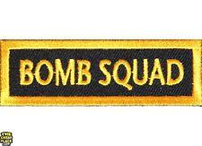 "Bomb Squad Iron On Patch - 3"" x 1"" Free Ship Biker Veteran Military Biker P1290"