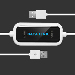 Data Link 2.0 USB Laptop PC Online File Transfer Cable Bridge M9 480Mb/s 4.9ft