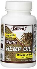 Deva Nutrition Vegan Hemp Oil Capsules 90 Count 90 VCAP NEW FREE SHIPPING