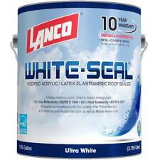 White Seal Eleastomeric Roof Coating 1 Gal Acrylic Sealer Mildew Water Resistant