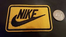 """Nike YELLOW  iron on PATCH -  patches new  Appx 3"""" x 2"""" Nice"""