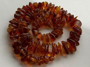 Natural Vintage Amber Beads Antique Baltic Old Necklace 60.08 gr.