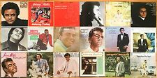 Lot of 18 Johnny Mathis LPs 1958-1984. VG-to-NM vinyl albums records