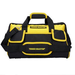 """Tough Master Tool Bag 16"""" With Shoulder Strap 27 Pockets"""