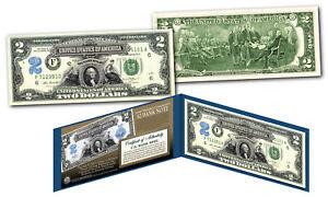 1899 George Washington Two-Dollar Silver Certificate Hybrid New Modern $2 bill