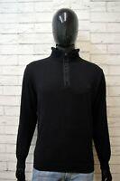 PAUL & SHARK Maglione Uomo Pullover Maglia Taglia L Sweater Cardigan Lana Nero
