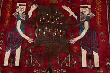 Vintage Dynasty Historical King Cyprus & Lion Abadeh Area Rug Tribal-Weave 4'x7'