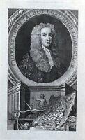 CHARLES TALBOT, LORD HIGH CHANCELLOR  original antique portrait print 1765