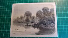Antique print Tapiche river mouth Reserve, Iquitos Peru  1865