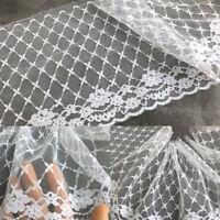 1yd Organza Lace Trim Flower Edge Ribbon Fabric Sewing Clothes Hem 8.27'' Width