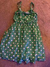 Mini Boden Girls Summer Party Dress, Polkadots, Age 7-8