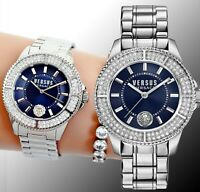 Versus Versace Damen Uhr Swarovski VSPH73119 Tokyo  IP Silber neu