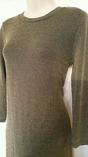 Ladies MINK PINK mini dress gold fitted size S party slinky sparkle