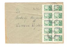 Polen Briefmarken Brief von 1951 Groszy Aufdruck Präsident Mi 622 T 3
