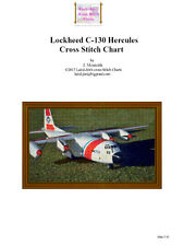 LOCKHEED C130 HERCULES - cross stitch chart