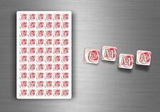 60x adesivi adesivo sticker alfabeto scrapbooking diy lettere auto moto r8 nomi
