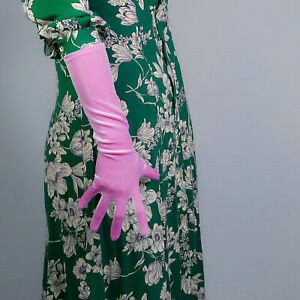 """VELVET GLOVES 60cm 24"""" Opera Long Stretchy Elastic Light Purple Lavender TECH"""