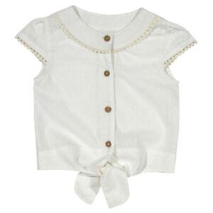BNWT! Tie Front Blouse. 100% organic cotton. Premium Quality UK Stock.