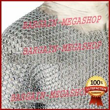 Medieval Aluminium Chainmail Shirt Butted Chain Mail Armour Role Play Costume s1