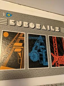 Vintage Rare 1990 Mayfair Games Eurorails Board Game #457 100% Complete