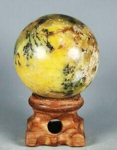 Amazing White Opal Pattern Sphere Ball Reiki Gem Stone Madagascar