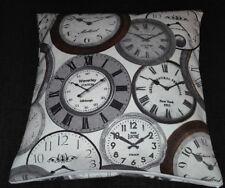 Kissenbezug, Kissenhülle 40x40 cm, Uhren, Dekokissen, Handarbeit, neu