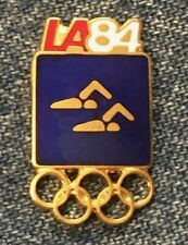 Synchronized Swimming Olympic Pin Badge ~ Blue ~ Pictogram ~ 1984 Los Angeles~LA