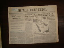 THE WALL STREET JOURNAL~1/17/91~DESERT STORM~WAVES OF US PLANES ATTACK IRAQ-BUSH