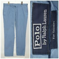 Mens Polo Ralph Lauren Fine Tailoring Chino Pants Trousers Blue W38 / L34