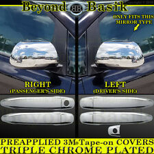 2012 2013 2014 2015 TOYOTA TACOMA Crew Cab Chrome Door Handle F Mirror COVERS 4D