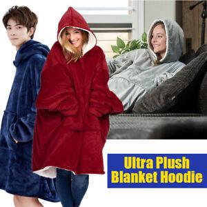 Home Plush Blanket Hoodie The Comfy Giant Sweatshirt Winter Hoodie Fleece Gift