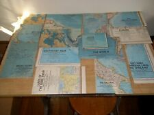 Vintage Lot of 15 National Geographic Maps 1960s