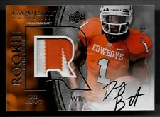 2010 UD Exquisite Dez Bryant On Card Black Ink Auto 2 Color Patch Rc # 7/75