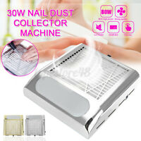 80W Nail Art Collector Vacuum Fan Cleaner Machine Suction Dust Manicure 2Colors