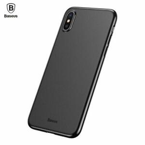 Baseus Super Ultra Thin iPhone X XS Case Slim Matte Protective Hard Cover Black