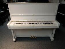 YAMAHA U3 UPRIGHT PIANO STUNNING HIGH GLOSS WHITE. 0% FINANCE AVAILABLE