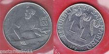 S47, SAN MARINO 100 LIRE 1972  DA SERIE DIVISIONALE  KM 20,  FDC /  UNC