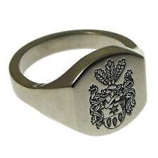 Titanium Laser Engraved Signet Ring Oval Or Cushion