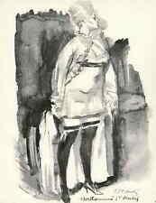 PARISER HURE - Louis BERTHOMMÉ-SAINT-ANDRÉ 1963 - Handsigniert a. ARCHES-Bütten