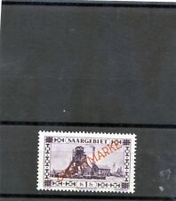 """Saar Sc O25v(Mi D20Xix)*F-Vf Nh 1927 1F Br Violet""""Overprint Point In E"""" $150"""